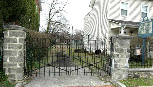 The original gate of Camp William Penn